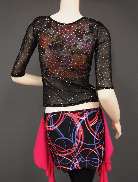 シースルーラメトップス3 ミラーナベリーダンス衣装