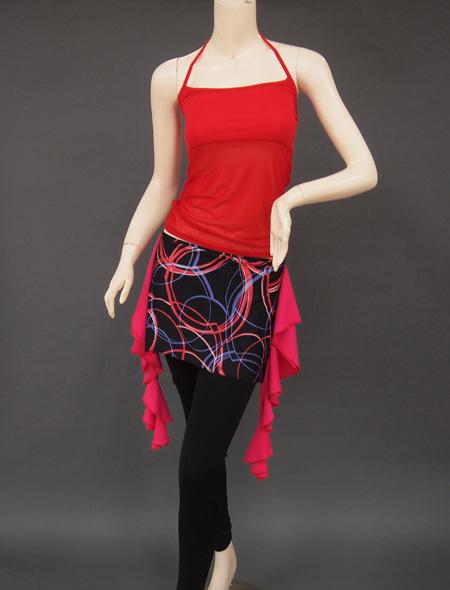 赤シースルーキャミ2 ミラーナベリーダンス衣装