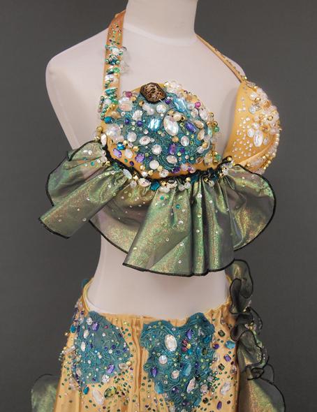 ゴールドベリーダンス衣装6 ミラーナ