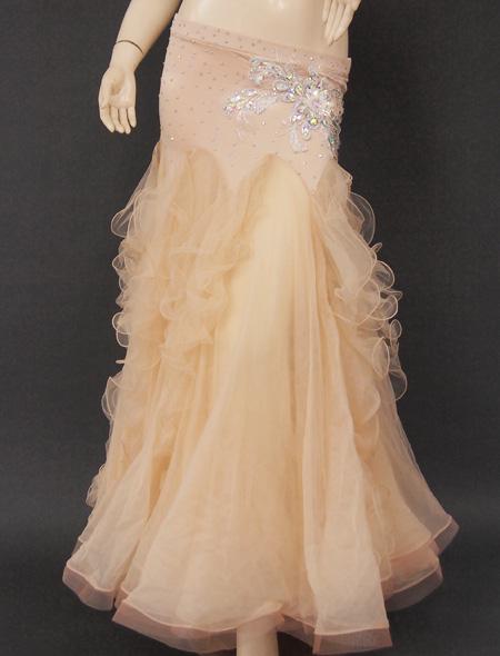 ベージュフリル3 ミラーナベリーダンス衣装