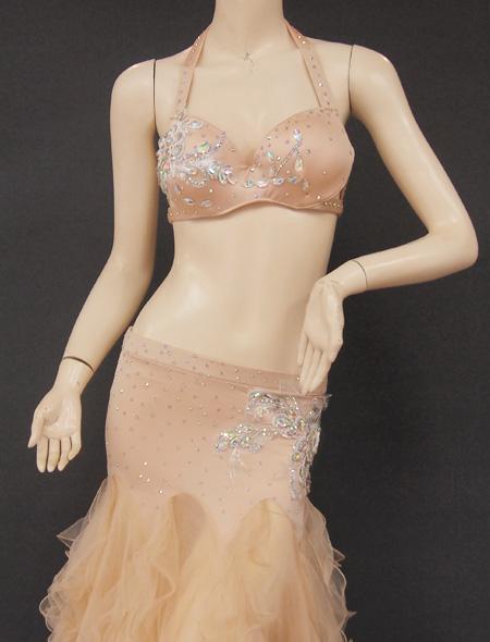 ベージュフリル7 ミラーナベリーダンス衣装