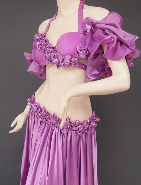 パープル薔薇4 ミラーナベリーダンス衣装
