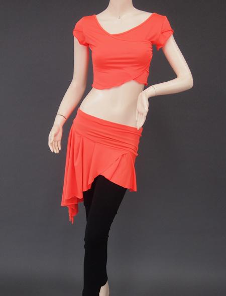 オレンジ上下セット1 ミラーナベリーダンス衣装