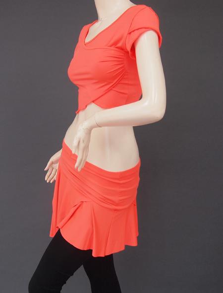 オレンジ上下セット3 ミラーナベリーダンス衣装