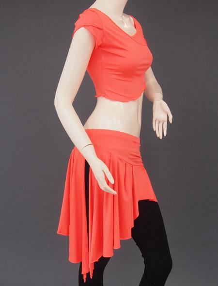 オレンジ上下セット4 ミラーナベリーダンス衣装