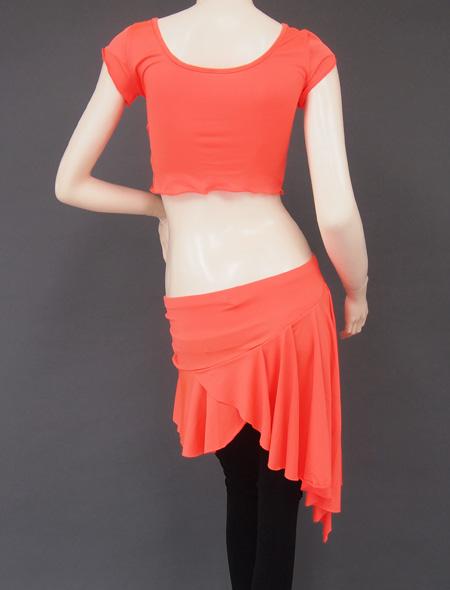 オレンジ上下セット5 ミラーナベリーダンス衣装
