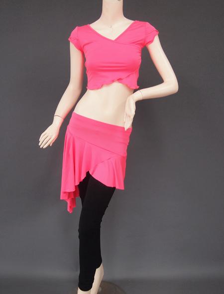 ピンクレッスンウエア1 ミラーナベリーダンス衣装