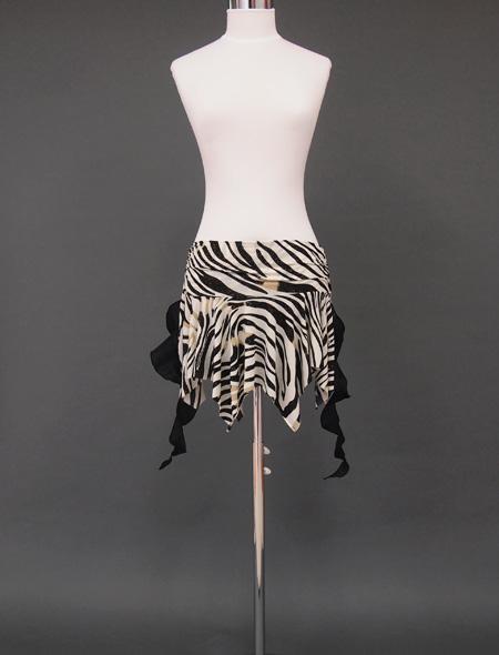 ゼブラ柄ヒップスカーフ1 ミラーナベリーダンス衣装