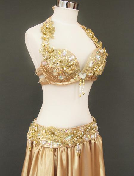 ゴールドベリーダンス衣装 右ヨリ