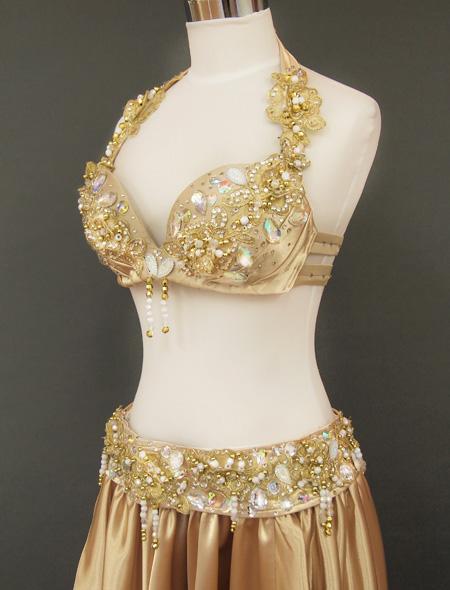 ゴールドベリーダンス衣装 左ヨリ