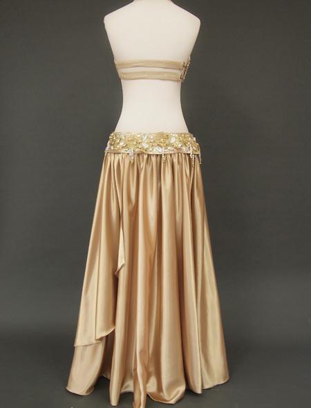 ゴールドベリーダンス衣装 バックスタイル