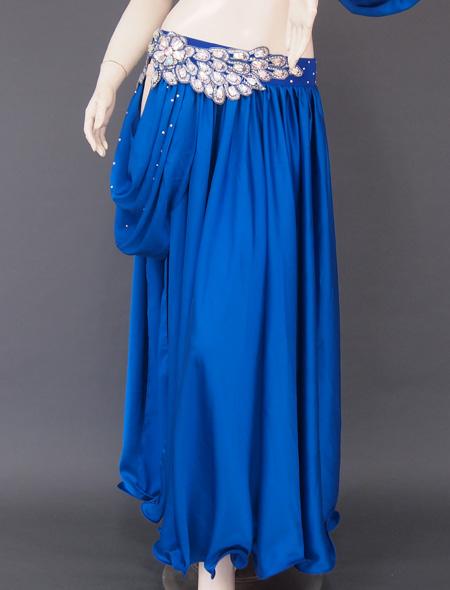 深みのあるブルー衣装3 ミラーナベリーダンス衣装
