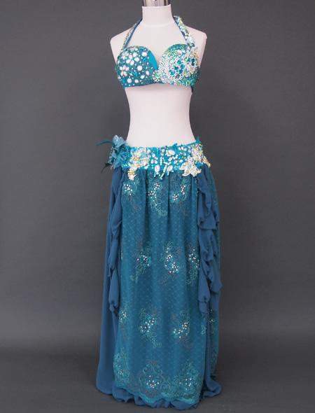 グリーンレース1 ミラーナベリーダンス衣装