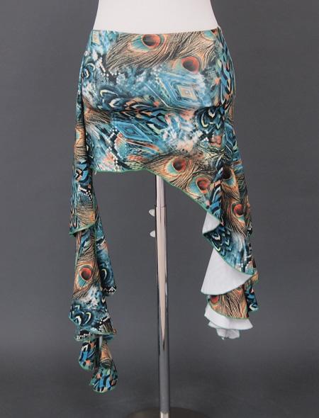 グリーン孔雀ウエアセット3 ミラーナベリーダンス衣装