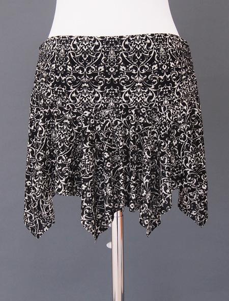 黒ダマスクヒップスカーフ5 ミラーナベリーダンス衣装