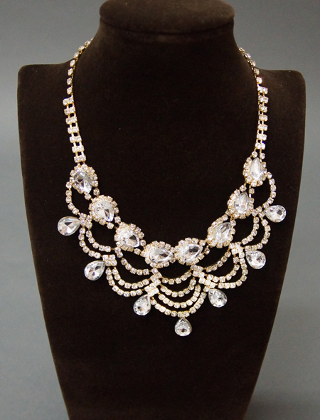 繊細で美しい輝きネックレスとピアスのセット2 ミラーナベリーダンス衣装