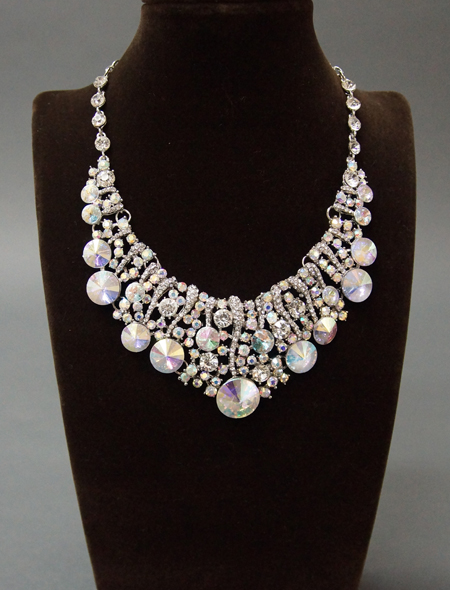 輝きを放つネックレスとピアスのセット2 ミラーナベリーダンス衣装