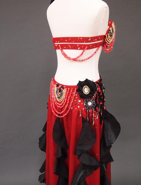赤黒ベリーダンス衣装6 ミラーナ