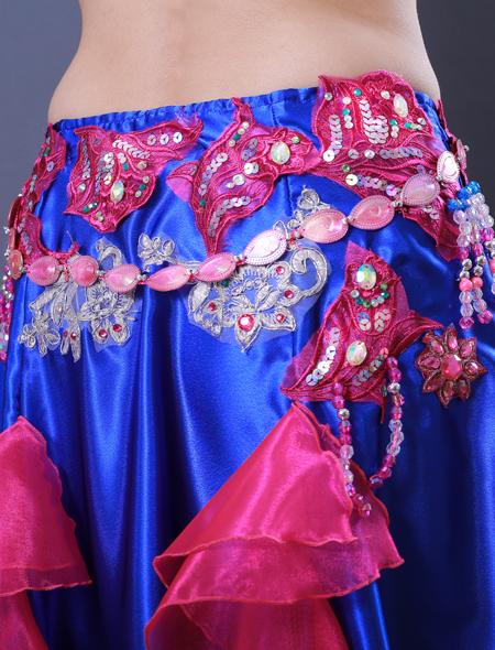 青フリル6 ミラーナベリーダンス衣装
