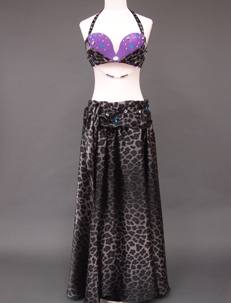 黒ヒョウ柄ベリーダンス衣装1 ミラーナ