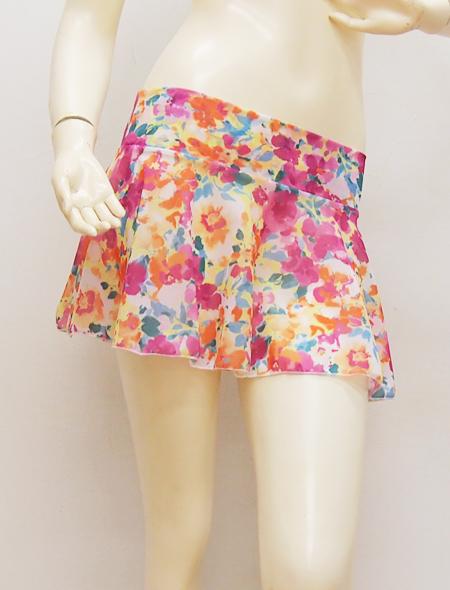 花柄スカート3 ミラーナベリーダンス衣装