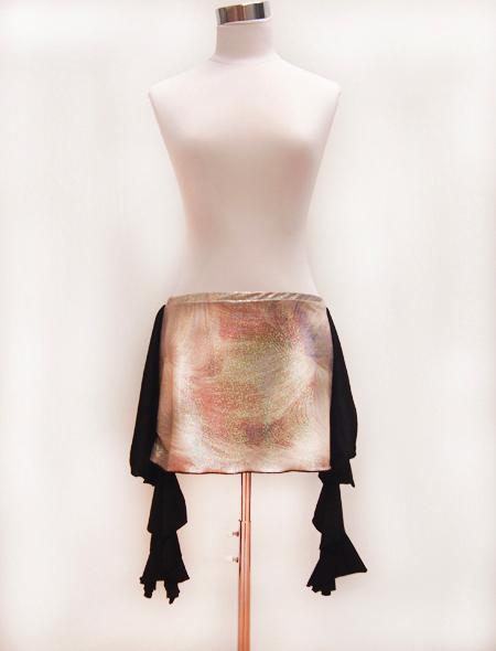 羽柄ラメヒップスカーフ ミラーナベリーダンス衣装