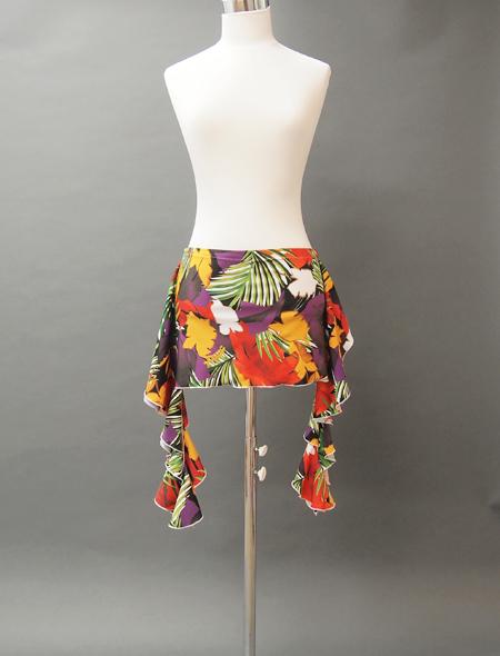 カラフルな大柄の花モチーフのヒップスカーフ MiLLANAベリーダンス衣装