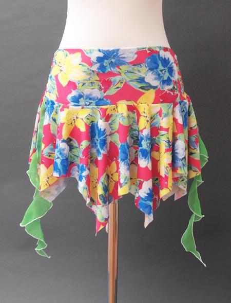 カラフル花柄ヒップスカーフ2 ミラーナベリーダンス衣装
