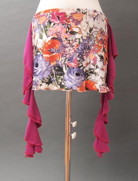 鮮やか絵画ヒップスカーフ2 ミラーナベリーダンス衣装