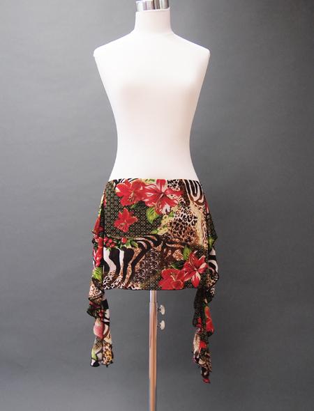 赤ヒョウヒップスカーフ ミラーナベリーダンス衣装