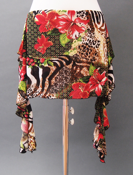 赤ヒョウヒップスカーフ ミラーナベリーダンス衣2