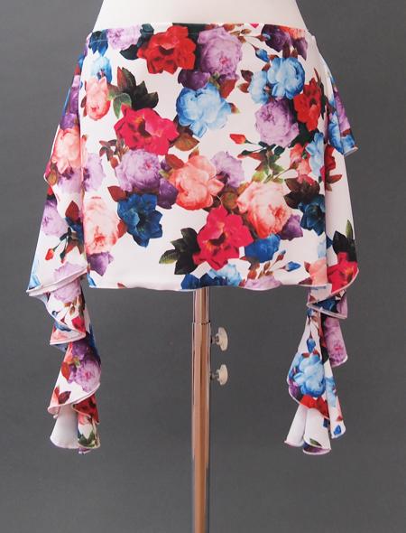 白花ばらヒップスカーフ ミラーナベリーダンス衣装2