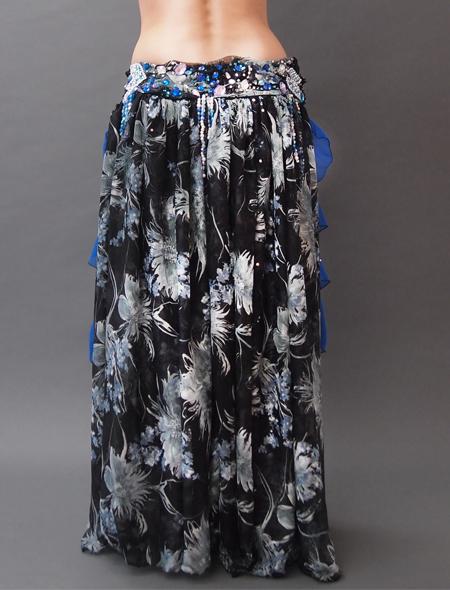 黒柄衣装4 ミラーナベリーダンス衣装