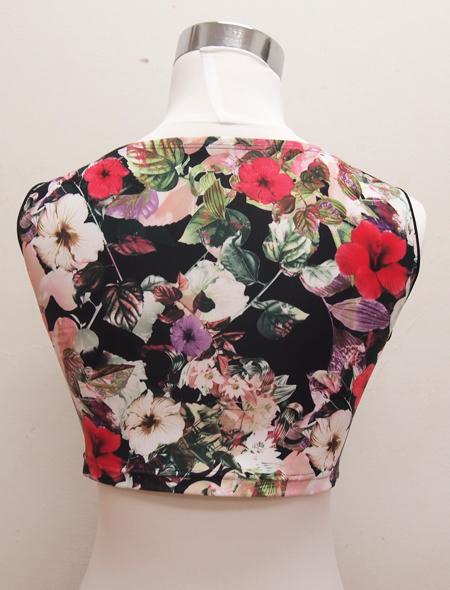 黒花ノースリーブ4 ミラーナベリーダンス衣装