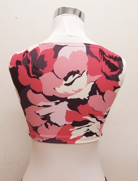 大柄ピンクトップス4 ミラーナベリーダンス衣装