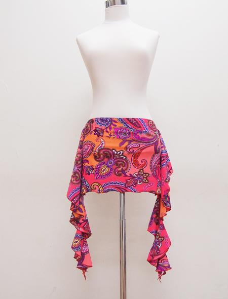 オレンジペイズリーヒップスカーフ1 ミラーナベリーダンス衣装