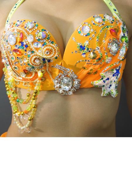 アラビアンなオレンジベリーダンス衣装3 ミラーナ