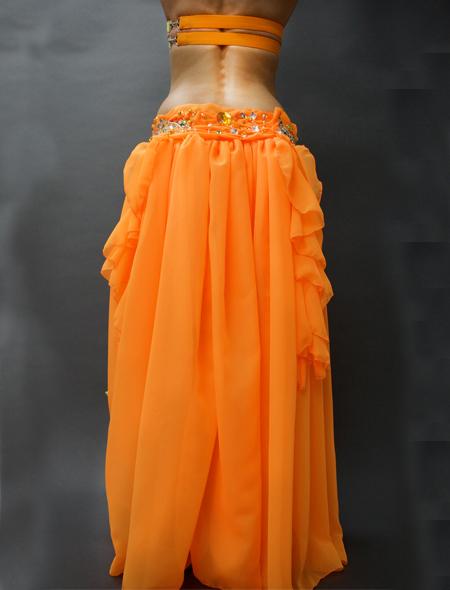 アラビアンなオレンジベリーダンス衣装5 ミラーナ