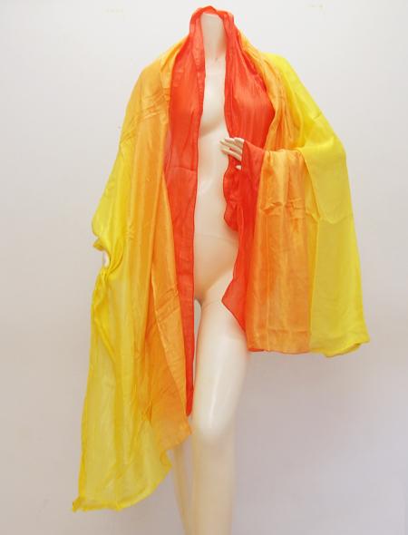オレンジ黄色ベール ミラーナベリーダンス衣装