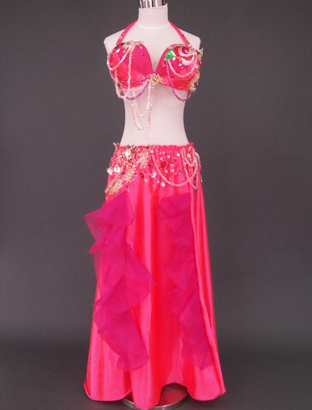 ピンク薔薇ベリーダンス衣装1 ミラーナ