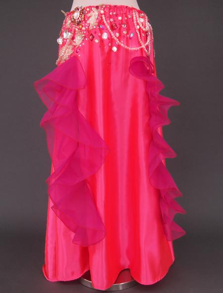 ピンク薔薇ベリーダンス衣装3 ミラーナ