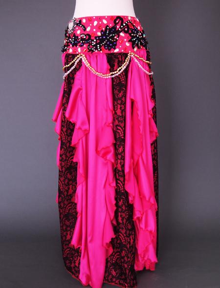 ピンクブラックレースベリーダンス衣装3 ミラーナ