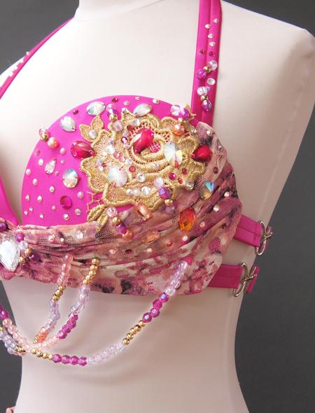 ピンクファンタジーベリーダンス衣装5 ミラーナ
