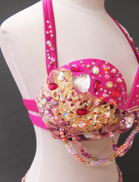 ピンクファンタジーベリーダンス衣装6 ミラーナ