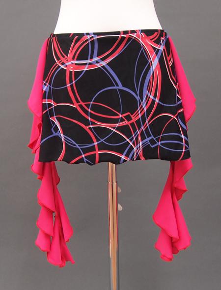 ピンクフリルジオメトリック柄2 ミラーナベリーダンス衣装