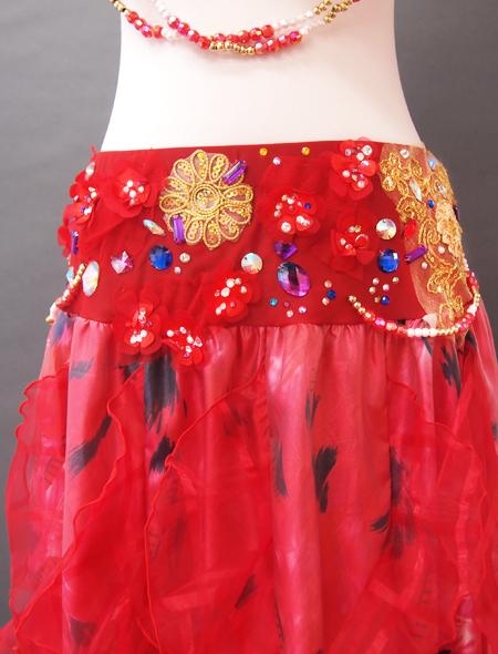 赤花ベリーダンス衣装3 ミラーナ