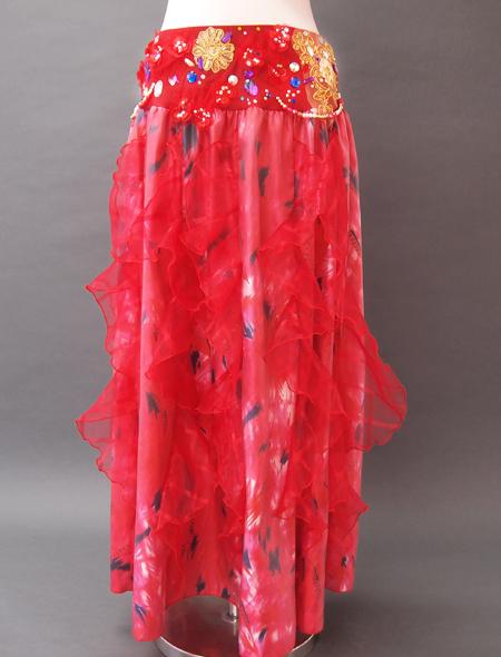 赤花ベリーダンス衣装4 ミラーナ