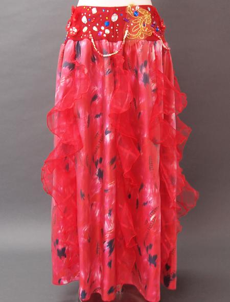 赤花ベリーダンス衣装6 ミラーナ