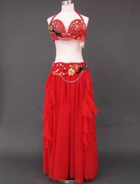 赤ラメベリーダンス衣装 ミラーナ