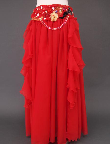 赤ラメベリーダンス衣装3 ミラーナ